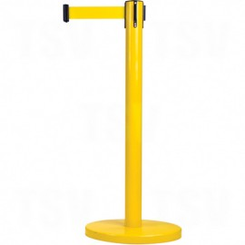 Crowd Control Barriers - Yellow Post with Cassette