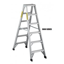 Step Ladder: Aluminum 2-Way, Heavy Duty