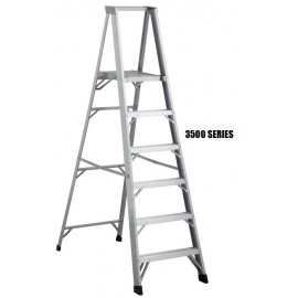Platform Ladder: Aluminum, Heavy Duty