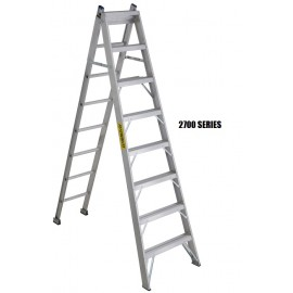 Step Ladder: Aluminum 3-Way, Heavy Duty