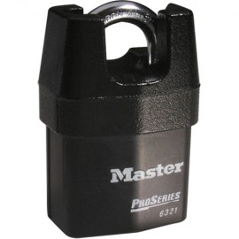 All Weather Resistant Padlock - Master Lock Laminated Steel Shrouded Padlock (Rekeyable)