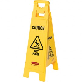 Rubbermaid Caution Safety Sign - 4 Sided
