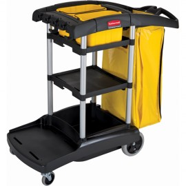Rubbermaid High Capacity Cleaning Cart With Bins