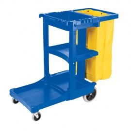 Rubbermaid Janitor Cart - Blue