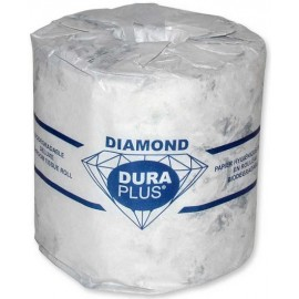 Dura Plus Diamond Bath Tissue: 2 ply, 48 rolls