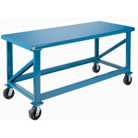 "Steel Workbench: 30"" x 72"" Mobile Heavy Duty"