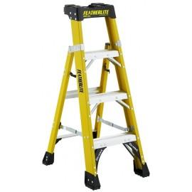 Fiberglass Cross Step Ladder: 4 ft