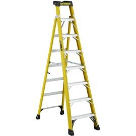 Fiberglass Cross Step Ladder: 8 ft