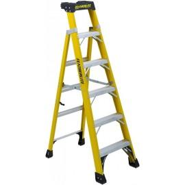 Fiberglass Cross Step Ladder: 6 ft