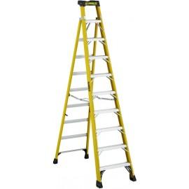 Fiberglass Cross Step Ladder: 10 ft