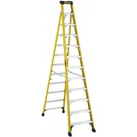 Fiberglass Cross Step Ladder: 12 ft