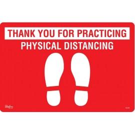 "Floor Sign: Physical Distance, 12""x18"""