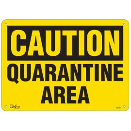 """Sign: Plastic, """"Quarantine Area"""""""