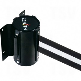 Crowd Control Barriers - Black / White Wall Mount