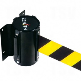 Crowd Control Barriers - Yellow / Black Wall Mount