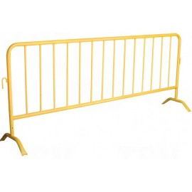 Crowd Control Barrier: yellow