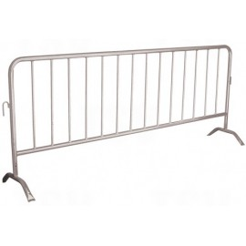 Crowd Control Barrier: galvanized