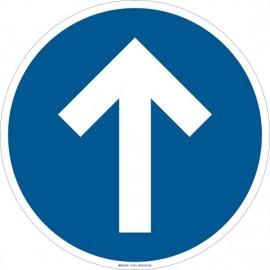 "Brady Floor Sign: directional arrow,17"""