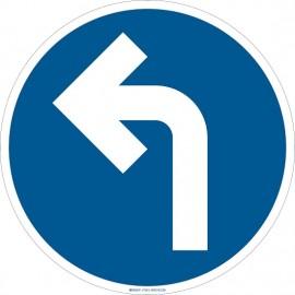 "Brady Floor Sign: left directional arrow,17"""