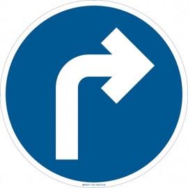 """Brady Floor Sign: right directional arrow,17"""""""