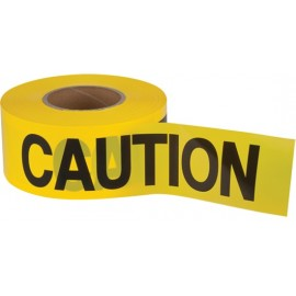 "Barricade Tape: ""CAUTION"" 2.0 mil boxed."