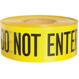 "Barricade Tape: ""CAUTION DO NOT ENTER"" 2.0 mil boxed."