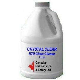 Crystal Clear Glass Cleaner: 4 litre, ready to use