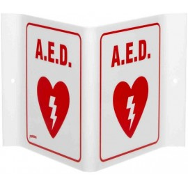 AED V Wall Sign