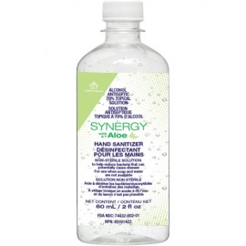 Synergy Liquid Hand Sanitizer Gel with Aloe: 60 ml, 70% alcohol