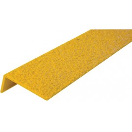 "Safestep Anti-Slip Step Edge: 48"" x 2 ¾"" x 1¼"" medium grit"